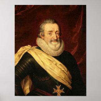 Retrato del rey de Enrique IV de Francia Póster