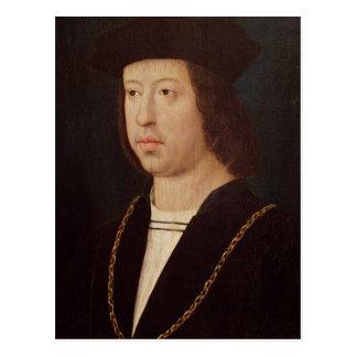 Retrato del rey de Fernando II de España Postal