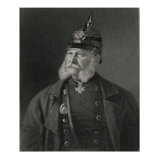 Retrato del rey de Guillermo I de Prusia Posters