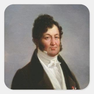 Retrato del rey de Louis-Felipe de Francia Pegatina Cuadrada