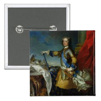 Retrato del rey de Louis XV de Francia, c.1727 Pin Cuadrada 5 Cm