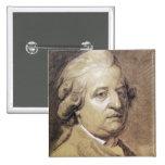 Retrato del rey de Louis XVI de Francia Pin Cuadrada 5 Cm