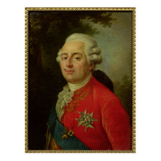 Retrato del rey de Louis XVI de Francia Tarjeta Postal