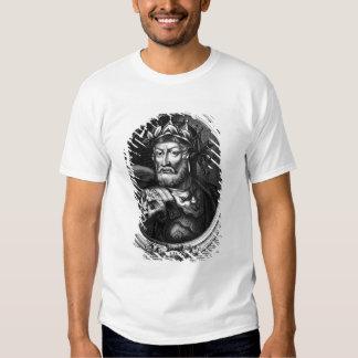 Retrato del rey de Merovech de las cartas francas Camisas
