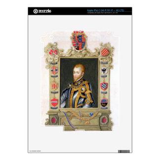 Retrato del rey de Philip II de España (1527-98) d Pegatinas Skins Para iPad 3