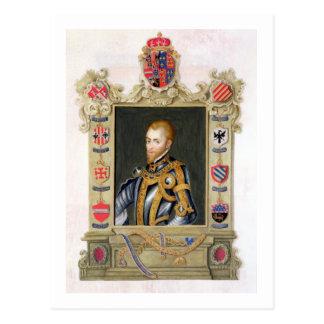 Retrato del rey de Philip II de España (1527-98) Postal