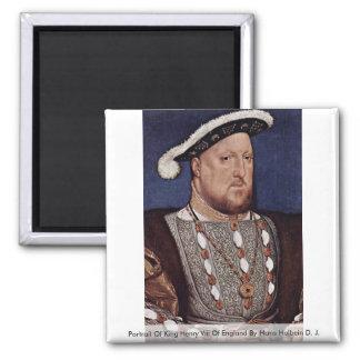 Retrato del rey Enrique VIII de Inglaterra Imán Cuadrado