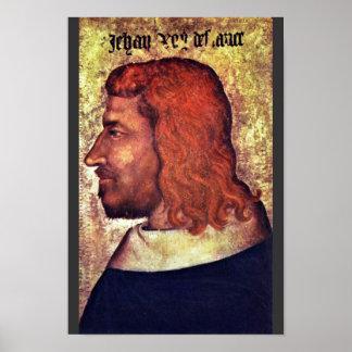 Retrato del rey francés Jean Le Bon (Juan Ii T Posters