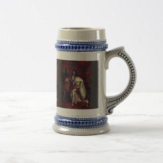 Retrato del rey francés Louis Xiv de Rigaud Hy Jarra De Cerveza