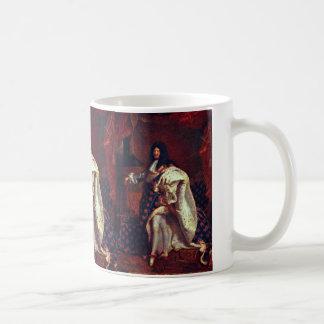 Retrato del rey francés Louis Xiv de Rigaud Hy Taza Básica Blanca