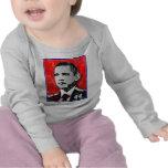 Retrato del rojo de Barack Obama Camisetas