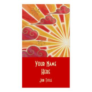 Retrato del rojo de la plantilla de la tarjeta de