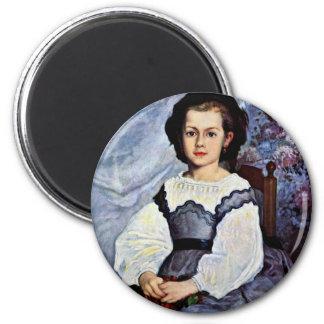 Retrato del Romaine Lancaux del Mademoiselle Imán Redondo 5 Cm