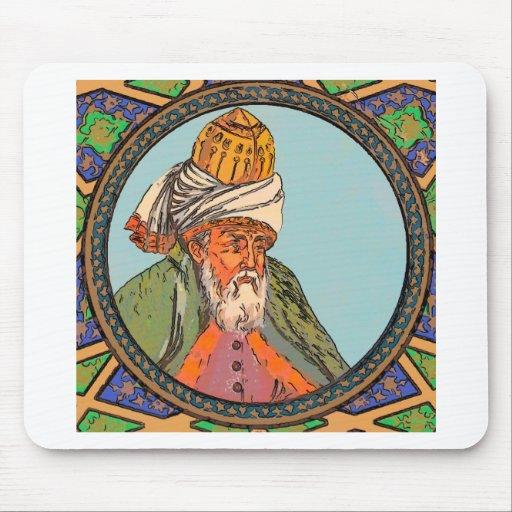 retrato del rumi tapete de raton