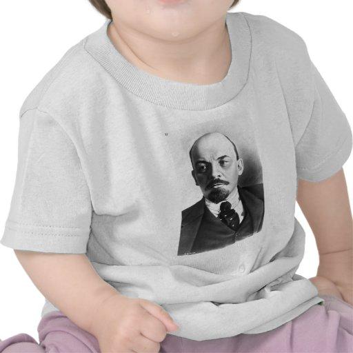 Retrato del ruso Vladimir Ilyich Lenin Camisetas