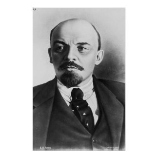Retrato del ruso Vladimir Ilyich Lenin Poster