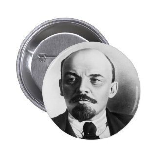 Retrato del ruso Vladimir Ilyich Lenin Pin Redondo De 2 Pulgadas