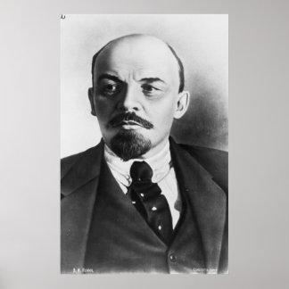 Retrato del ruso Vladimir Ilyich Lenin Póster