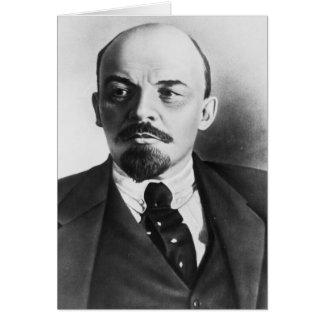Retrato del ruso Vladimir Ilyich Lenin Tarjeta De Felicitación