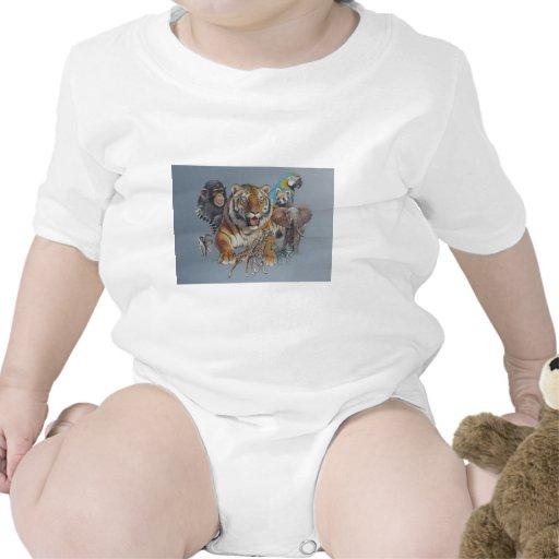 Retrato del safari de la fauna trajes de bebé
