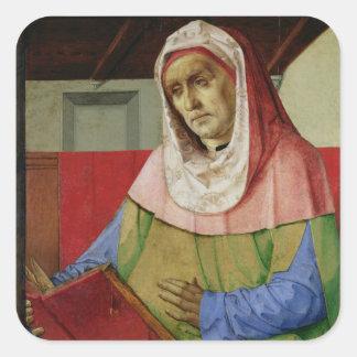 Retrato del Seneca c.1475 Pegatina Cuadrada