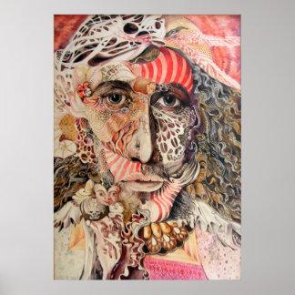 Retrato del Shaman Poster