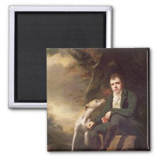 Retrato del sir Walter Scott y sus perros Imán Para Frigorífico