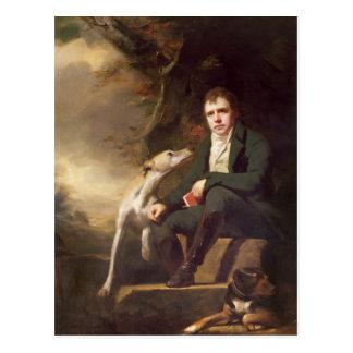 Retrato del sir Walter Scott y sus perros Postales
