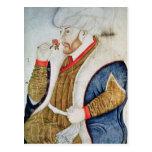 Retrato del sultán Mehmet II Postal