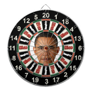 Retrato del tablero de dardo político de Barack