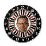 Retrato del tablero de dardo político de Barack Tablero De Dardos