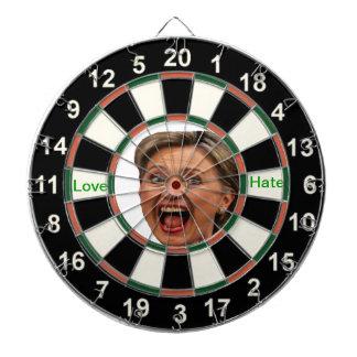 Retrato del tablero de dardo político de Hillary