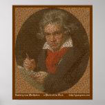 Retrato del texto de Beethoven Posters