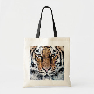 Retrato del tigre en estilo gráfico de la prensa bolsas