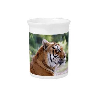 Retrato del tigre jarras de beber