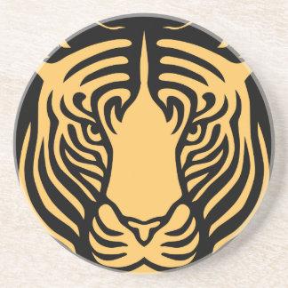 retrato del tigre posavasos manualidades