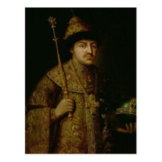 Retrato del Tsar Fyodor III Alexeevich Tarjetas Postales