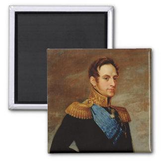 Retrato del Tsar Nicolás I 1826 Imán Cuadrado