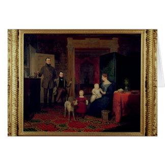 Retrato del Van Cortland Family, c.1830 Tarjeta De Felicitación