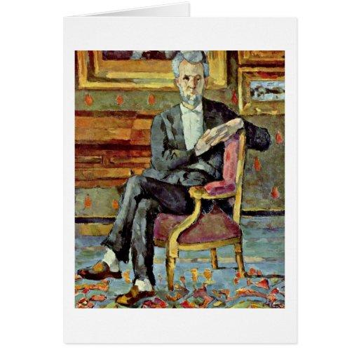 Retrato del vencedor Chocquet de Paul Cezanne Felicitación