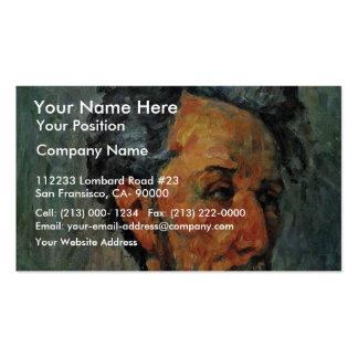 Retrato del vencedor Chocquet de Paul Cézanne Tarjetas De Negocios