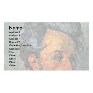 Retrato del vencedor Chocquet de Paul Cézanne Tarjeta De Visita