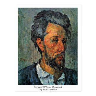 Retrato del vencedor Chocquet de Paul Cezanne Tarjeta Postal