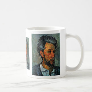 Retrato del vencedor Chocquet de Paul Cézanne Tazas De Café