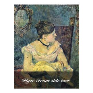 Retrato del vestido de noche de señora Gauguin In Tarjetas Informativas