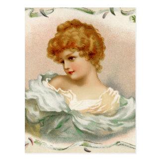 Retrato del Victorian de una mujer joven Postal