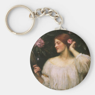 Retrato del Victorian del vintage, vanidad por el Llavero Redondo Tipo Pin