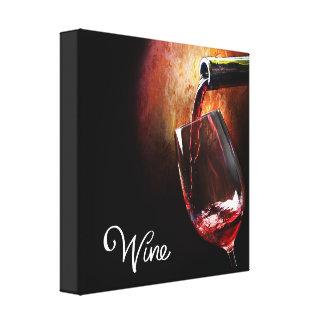 Retrato del vino rojo en lona estirada impresión en lienzo estirada