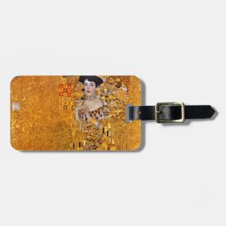 Retrato del vintage de Adela Gustavo Klimt Etiquetas Para Maletas