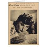 Retrato del vintage de Barbara Stanwyck Tarjetas